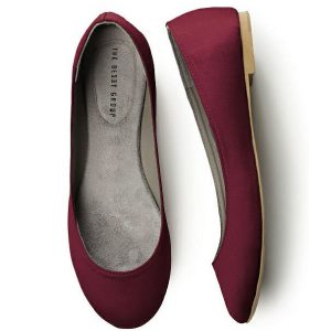 burgandy-red-flats