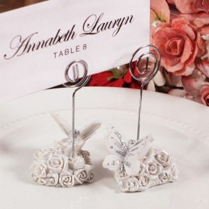 Butterfly With Roses Placecard Holder - Set of 60
