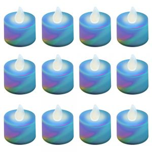 Color Changing Battery Operated LED Tea Lights - 12 Count, White