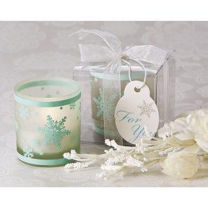 Winter Lights Snowflake Votive Tea Light Candle Holder (Pack of 8)