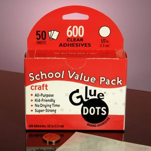 """Glue Dots - 12mil High Tack 1/2"""" Craft Clear Glue Dots Svp - Office Supplies by Glue Dots - Thickness Ofdot: 12 Mil - Dotsize: 1/2"""""""