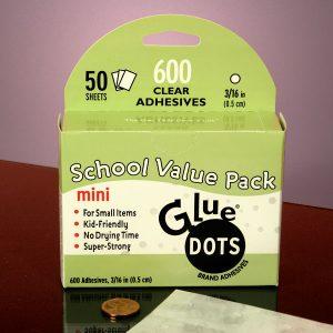 "Glue Dots - 12mil High Tack 3/16mini Clear Glue Dots Svp - Office Supplies by Glue Dots - Thickness Ofdot: 12 Mil - Dotsize: 3/16"""