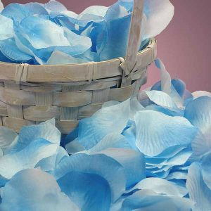 Silk Turquoise Rose Petals - Wedding Packaging by Paper Mart - Approx. # Of Petals/pack: 400
