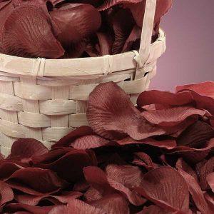 Silk Wine Rose Petals - Wedding Packaging by Paper Mart - Approx. # Of Petals/pack: 400