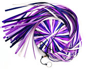 Lavender Wild! Windsock Spinner Handcrafted, Doublefaced Satin Ribbon in Navy, Lt. Orchid, Regal Purple, Grape, Antique White, and Purple.
