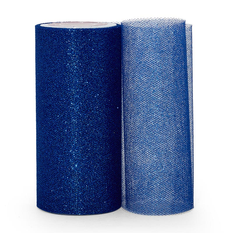"""Sparkle Royal Sparkling Tulle Roll - 6"""" X 25yd - Fabric - Width: 6"""" by Paper Mart"""