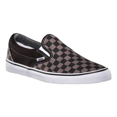 Vans Classic Slip-On, Size: 6 M, Black/Pewter Checkerboard