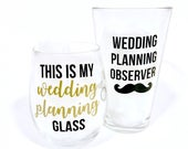 Wedding Planning Glasses, Engagement Gift, Engagement Gifts, Engagement Gift Set, Future Mrs Gift, Engagement, Gift for Couple, Bride to be