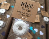 100 Custom Wedding Mints Kraft Brown, Mint To Be, Wedding Favors, Wedding Candy, High Quality, Personalized