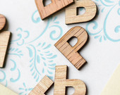 100 Wood Letter P 1 Wooden Alphabet Letters Birthday Party Table Decorations Initials Monogram Confetti Wood Letters