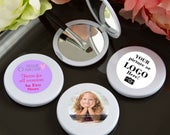 25 Personalized Custom Photo Mirror Compact Favors Set of 25