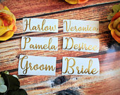 3 inch vinyl Name decals, name stickers,DIY weddings, DIY Christmas, wine glasses, cups, personalized. Bachelorette Party, Bridesmaid Gift