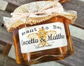80 (4oz) Rustic Fall Honey Wedding Favors, Bridal Shower Tea Favors, Meant to Bee Honey Wedding Favors