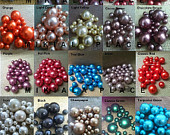 80pc Elegant Floating Pearl Gems For Home Accents, Wedding Decor, Table Decor, Confetti