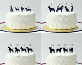 ADD ON Dog (48 Different Dog Options To Choose From) Silhouette Cake Topper Add on for any silhouette Wedding Cake Topper Animal Pet dog