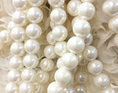 Acrylic PEARL beads for any enhancement, Jewelry, chair decoration, wedding centerpieces, bridal shower, rustic decoration