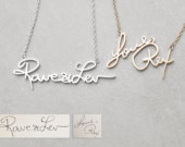 Actual Handwriting Necklace Meaningful Personalized Signature Necklace Bridesmaid Jewelry Christmas Gifts PN02