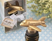 Airplane Travel Themed Wedding Wine Bottle Stopper Favors (Pack of 5) Wedding Favors