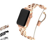 Apple Watch Series 5 4 3 2 Band, Stainless Steel Strap Wrist Bracelet cuff 38mm, 40mm, 42mm, 44mm