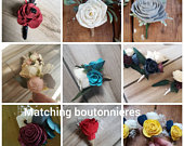 Boutonnieres to match your bouquet