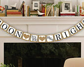 Bridal Shower Banner Bridal Shower Decor Soon To Be Banner Wedding Banners