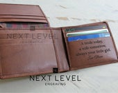 Bride to Groom Gift Wedding Gift for Groom Gift from Bride on Wedding Day Wallet Brown Personalized Leather Wallet RFID Card Holder