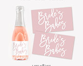 Bridesmaid Mini Champagne Labels, Bachelorette Party Favor, Bridesmaid Proposal Boxes, Mini Wine Labels, Bridal Party Favor