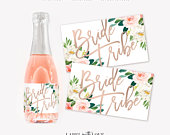 Bridesmaid Mini Champagne Labels, Bride Tribe, Bridesmaid Proposal, Bridesmaid Gift, Bachelorette Favor, Bridal Party Gift, Bridesmaid Box