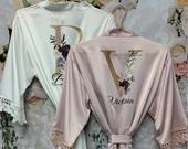 Bridesmaid Robes, Bridal Robes, Satin Dressing Gown, Bridesmaid Robe, Wedding, Wedding Party Robes, Bride Robe, Bridesmaid Gift