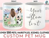 CUSTOM Dog Mug Pet Mug Dog Mom Dogs Mug Personalized Dog Mug Pet Mug Custom Dog Lover Gift Pet Mug Custom Best Friends Mug Best Friend Mug