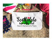 Cactus Make Up bag. Great Custom Bachelorette or Girls Weekend Favors. Personalized Bachelorette Beach Weekend Make up Bag.Cactus Gift.