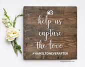 Capture the Love, Instagram Hashtag, Wedding Sign, Rustic Wooden Sign, Painted Wood Wedding Sign, Decor, Wood Painted Sign