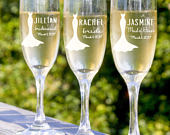Champagne Flute, Will You Be My Bridesmaid, Bachelorette Party Favor, Personalized Bridesmaid Champagne Glass, Maid Of Honor, Mimosa Glasses