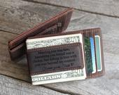 Cowhide Money Clip Leather Wallet Gifts for Boyfriend Christmas Gift Husband Gift Personalized Gifts for Him Front Pocket Wallet for Men