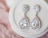 Crystal Bridal Earrings, Wedding Earrings, Teardrop Bridal Earrings, Crystal Stud Earrings, Wedding Jewelry, Wedding Accessories