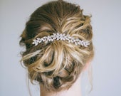 Crystal Hair Comb, Bridal Hair Comb, Rhinestone Hair Comb, Silver Hair Vine, Wedding Back Comb, Veil Decoration