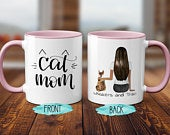 Custom Cat Mom Mug Cat Mother Mug Cat Mom Gift Cat Lover Gift Best Friend Mug Cat Mother Gift Gift for Cat Lovers Personalized Cat S1207