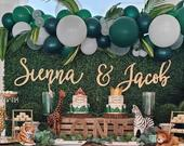 Custom Couples Name Sign, 3 pieces, Personalized Name Sign, Custom Backdrop Sign, Personalized Sign, Wedding Sign, Wooden Sign, Rustic Sign