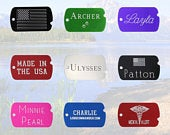 Custom Engraved Military ID Dog Tags, Personalized Front Back, Great for Army, Navy, Air Force, Marine