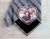 Custom Photo Tie Patch. Picture Patch. Groom Gift from Bride. Father of the Bride gift. Tie Patch. Neck tie. Gift for Groom. Wedding Favors.