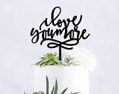 Custom Wedding Cake Toppers, I Love You More Cake Toppers, Wedding Cake Toppers, Last Name Cake Topper, Name Cake Toppers, Love You More