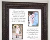 Dad Thank You Wedding Gift for Father from Daughter to Father, Father of the Bride wedding gift for Dad from Daughter, I LOVED HER FIRST