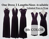 Dark Purple Bridesmaid Dress Infinity Dress Convertible Dress Wrap Dress Multiway Dress Prom Dress Wedding Dress Cocktail Dress, Maxi dress