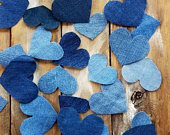 Denim Table Scatter, Aisle Scatter, Table Confetti, Diamond and Denim Table Confetti, Denim Wedding, Boy Baby Shower Confet,