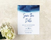 Dip Dye Ocean Save the Date Destination Beach Cruise Save the Date Easy Online Edit Instant Download Template