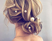 Extra Large Pearl Wedding hair pin Pearl Bridal hair pin Pearl hair pin Pearl Wedding hair accessories Pearl Bridal hair accessories