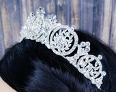 Fast Ship 1.25 Silver Tiara Quince Crown Pageant Crown Silver Wedding Crown Bridal Crown Debutante Crown Gatsby Crown