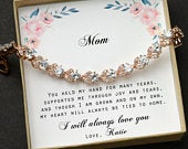 Gift for mom ,Christmas ,mom bracelet,Mother in law ,aunt gift ,Gifts for Step mom ,to my other Mom,Stepmother of the Bride Groom, HALO