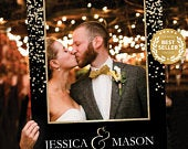 Gold Confetti Photo Prop Editable Digital File Wedding Photo Prop Selfie Photo Props Couples Shower Photo Prop Frame PDF