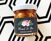 Honey Wedding Favors for Guests Honey Jars w/ Meant to Bee Stickers Honey Favor Jars Tea Party Favors (EB3230GDN) 12 pcs